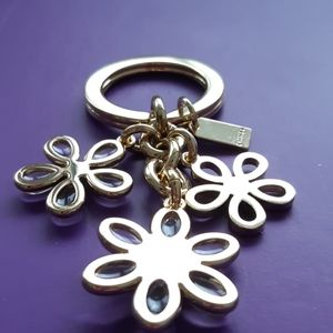 Coach Accessories - Coach keychain flower multi mix gold and clear